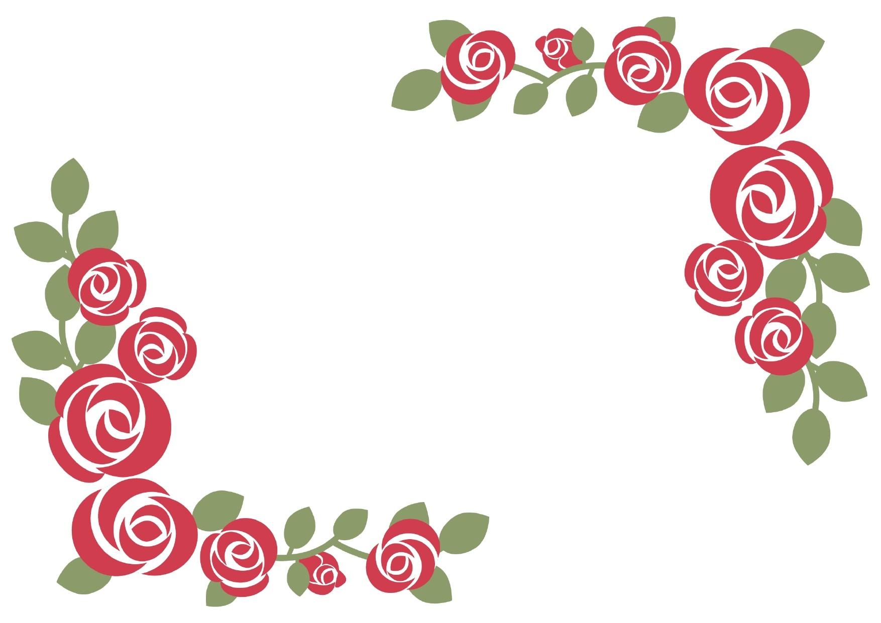 バラのフレームデザイン01