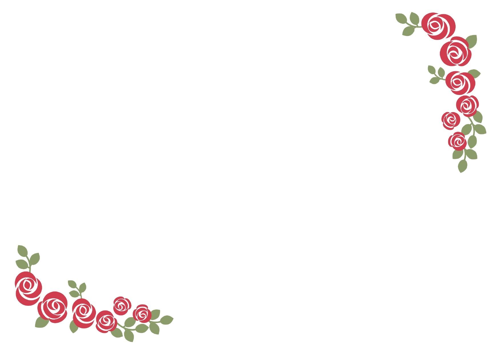 バラのフレームデザイン02