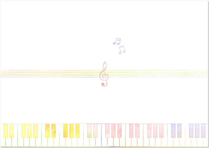 ピアノの鍵盤・音記号の「のし紙」を無料でダウンロード