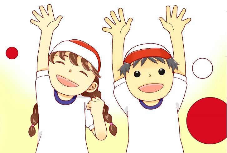幼稚園&保育園・小学校の運動会のポスターの無料イラストデザイン