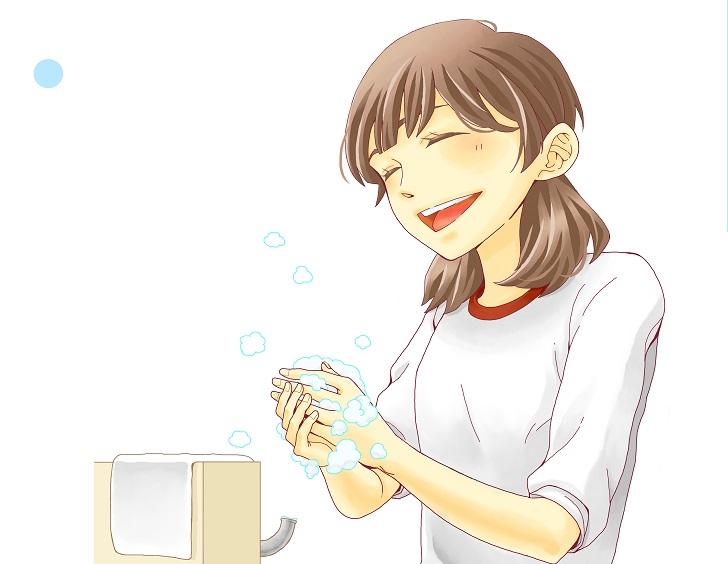 手洗いの無料イラストのポスターのテンプレートをダウンロード