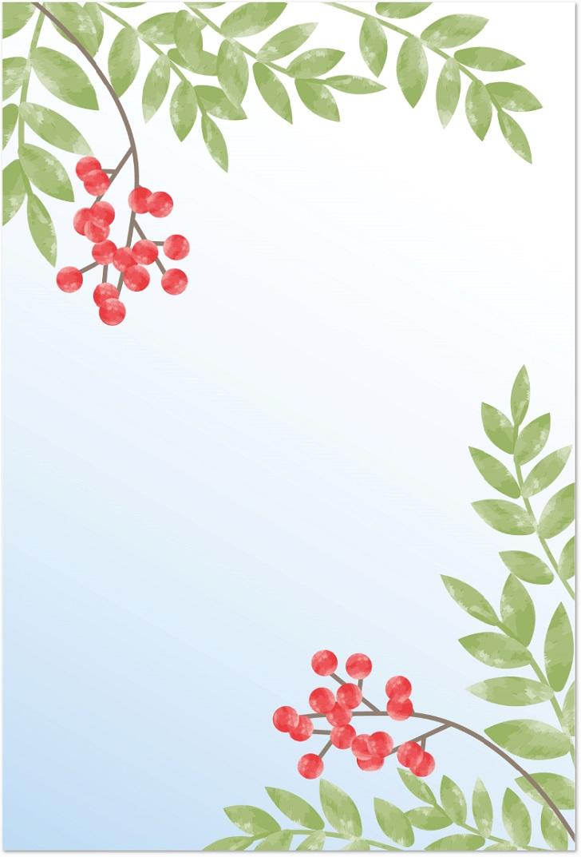 1月に使える南天イラストのはがきサイズをダウンロード