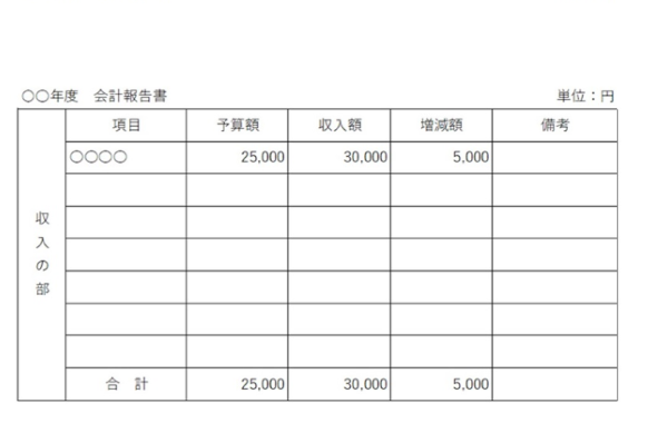 縦の書式・表形式&エクセル・ワードの会計報告書の無料テンプレート