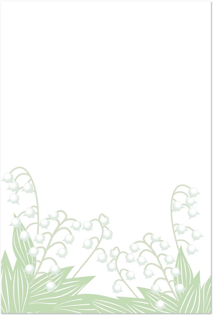 すずらんの花のイラスト!はがきサイズを無料ダウンロード