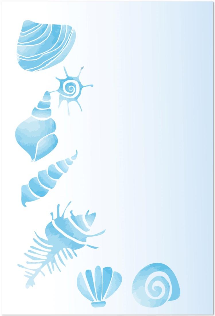 8月の残暑見舞い・暑中見舞いのメッセージカードを無料でダウンロード