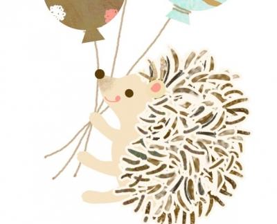 ハリネズミ バルーン パステルカラー 風船