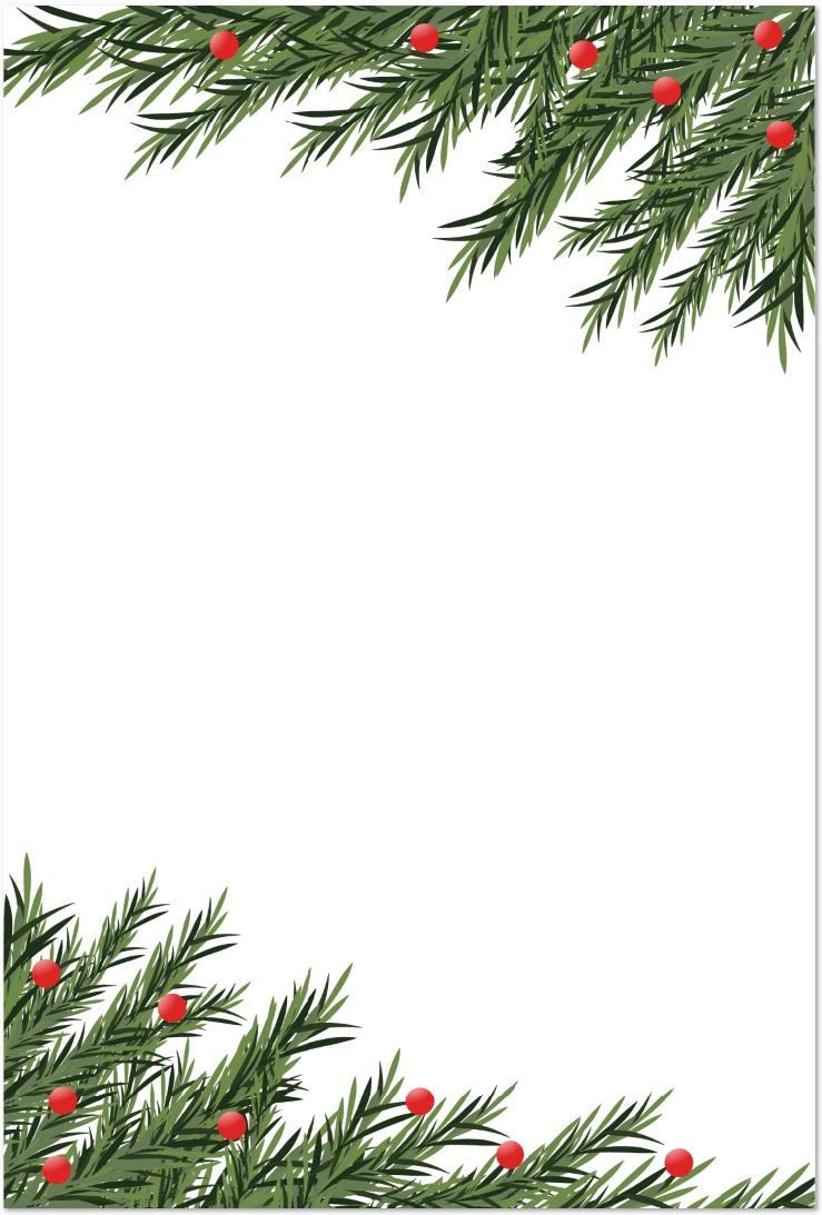 12月冬のクリスマスツリー&もみの木のイラストをダウンロード