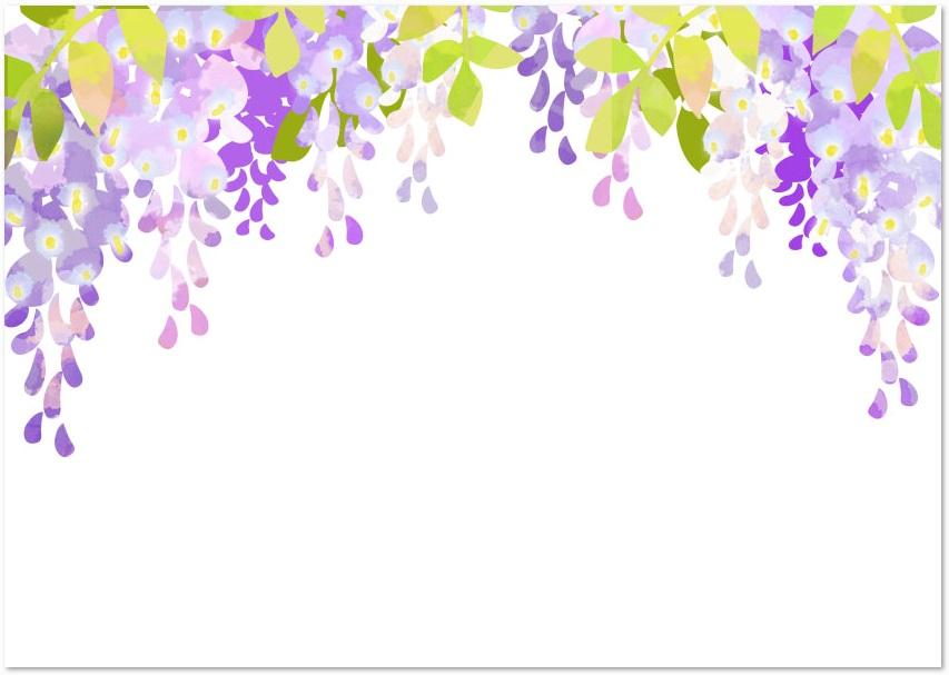 春の花 5月の花 綺麗な藤の花 のデザイン無料イラストフレーム 無料ダウンロード テンプレルン