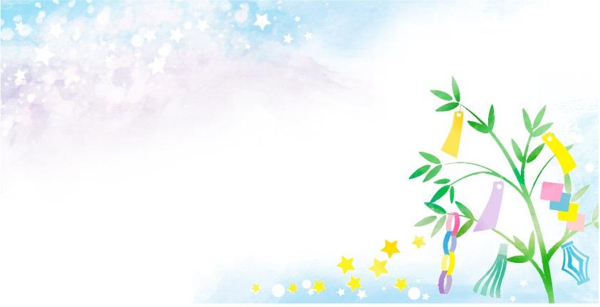 7月夏のデザイン七夕の無料イラストフレーム素材