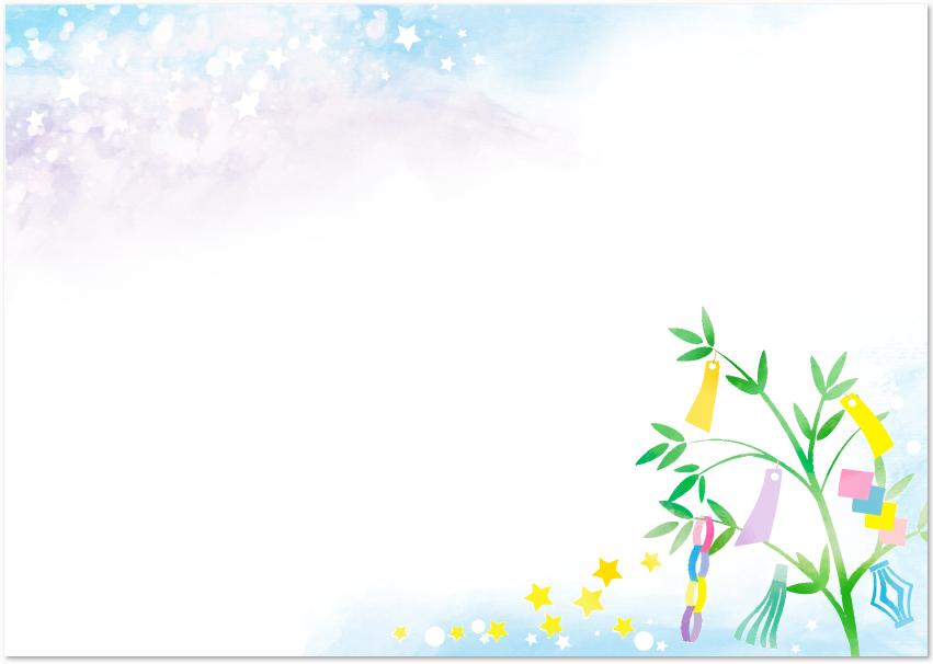 7月夏のデザイン七夕の無料イラストフレーム素材 無料ダウンロード テンプレルン