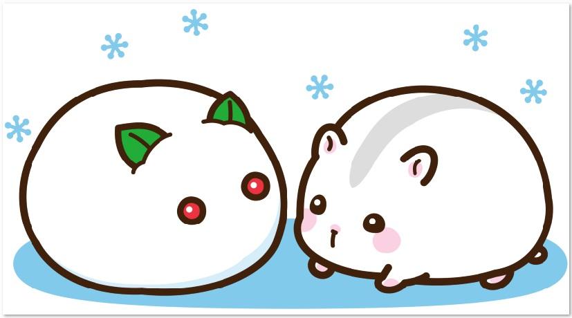 ジャンガリアンハムスターと雪だるまをダウンロード