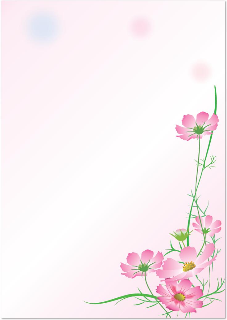 9月秋コスモスの花のフレームをダウンロード