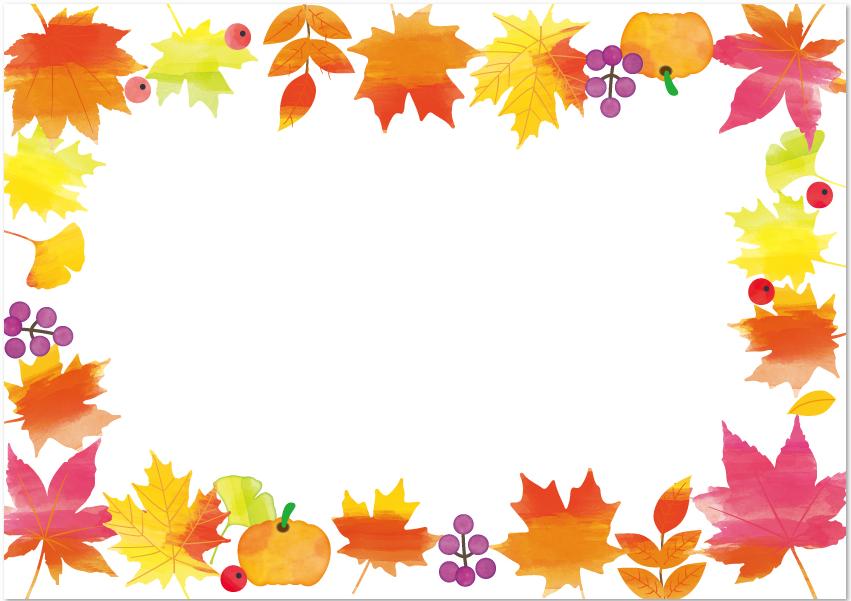 10月紅葉のフレーム・メッセージカード
