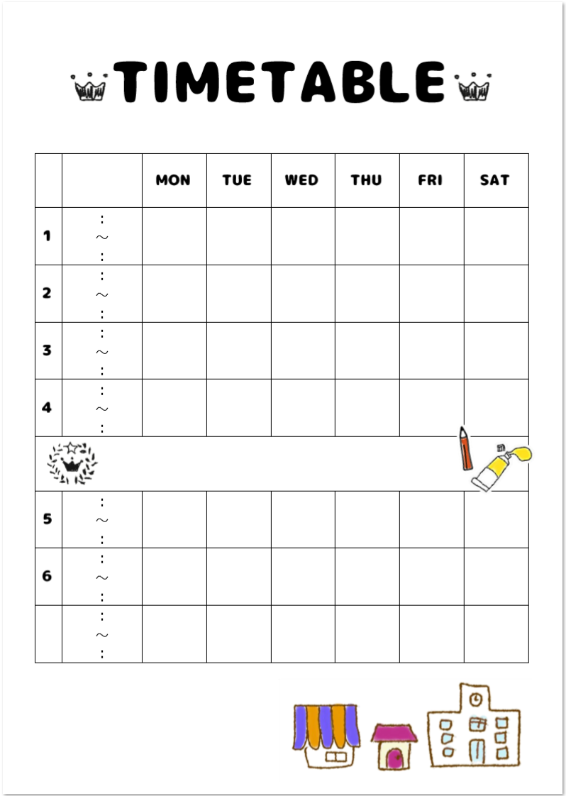 時間割表の用途やオススメの使い方