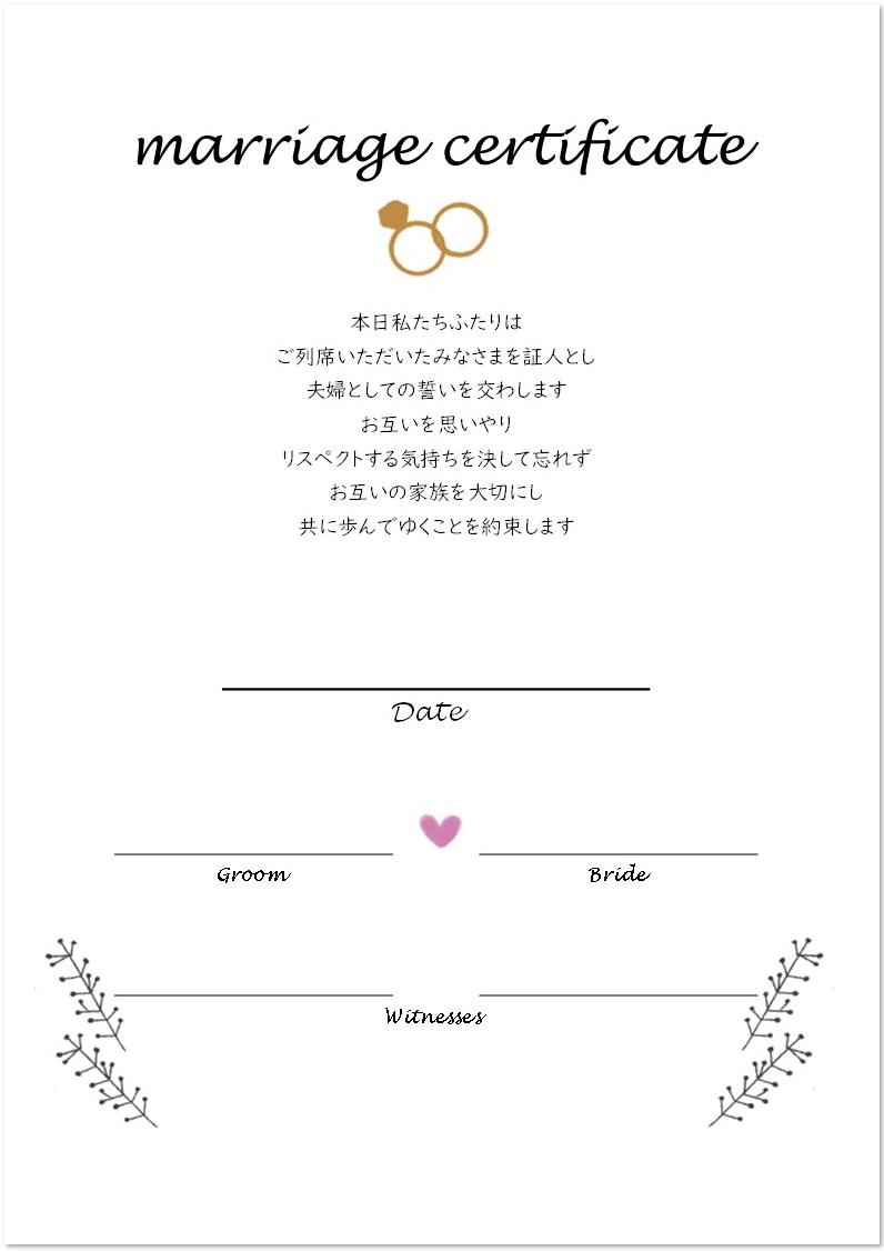 結婚証明書とは?日本では法的な拘束力はあるの?
