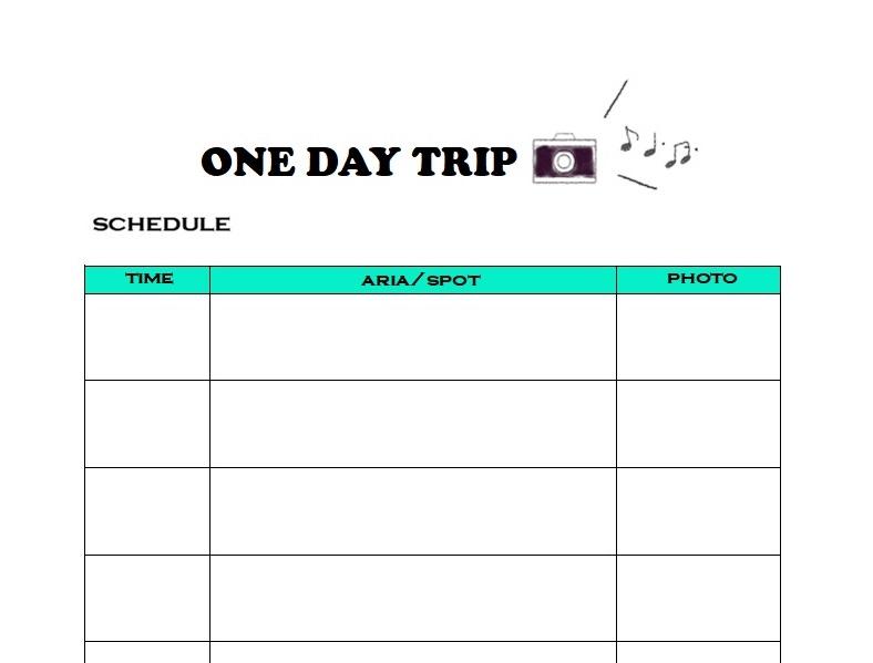 かわいい!旅程表「word・Excel・pdf」「日帰り・1泊2日・3泊4日」無料テンプレート