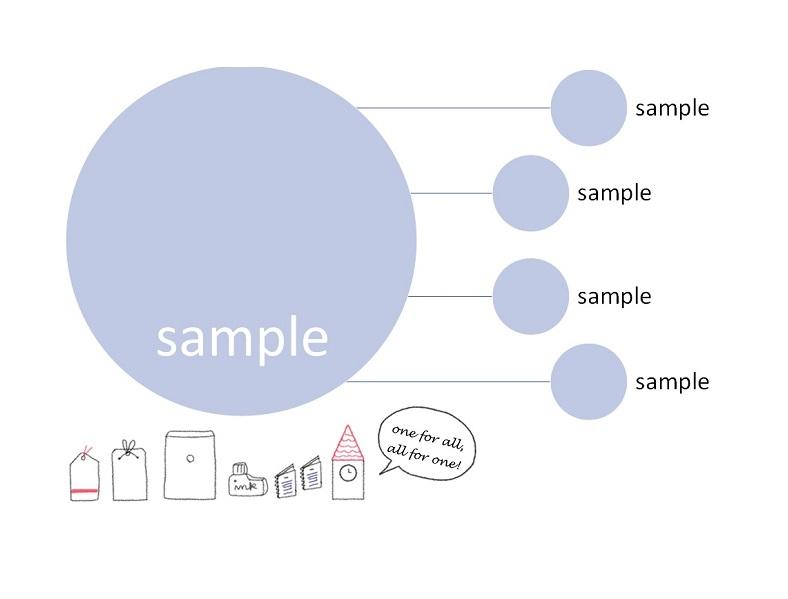 シンプルでかわいい&おしゃれ「word・Excel・pdf」組織図の無料テンプレート