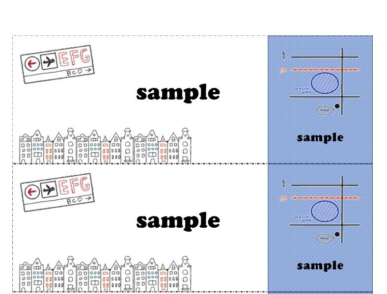 おしゃれ&かわいい!チケット「word・Excel・pdf・A4・4分割」無料テンプレート